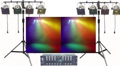 LichtSet 2x statief 8x Par56 8x kleurfilters incl. licht sturing Verhuur