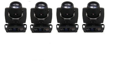 Moving Head Set van 4x 5R Beam Spot met Prisma Verhuur