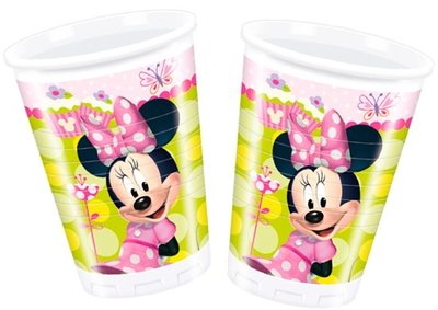 Minnie Mouse Plastic Bekers 8st
