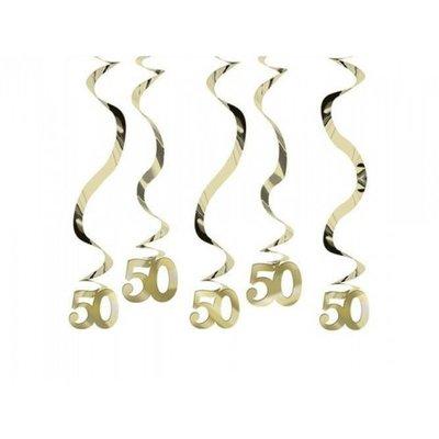 Goud 50 Jaar Hangkrullen 5st