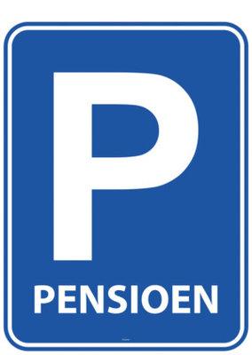 Verkeersbord Pensioen Vlaggenlijn 10m
