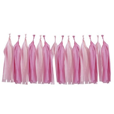 Roze en Fel Roze Kwastjes Slinger Doe-Het-zelf Set