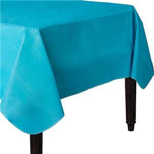 Caribisch Blauw Vinyl Tafelkleed 132x228cm