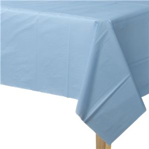 Baby Blauw Plastic Tafelkleed 137x274cm