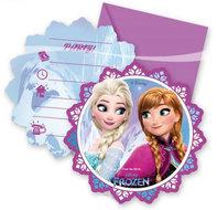 Frozen Noorderlicht Uitnodigingen en Enveloppen 6st