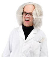 Gekke Geleerde Einstein Pruik