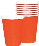 Sinaasappel Oranje Papieren Bekers 20st