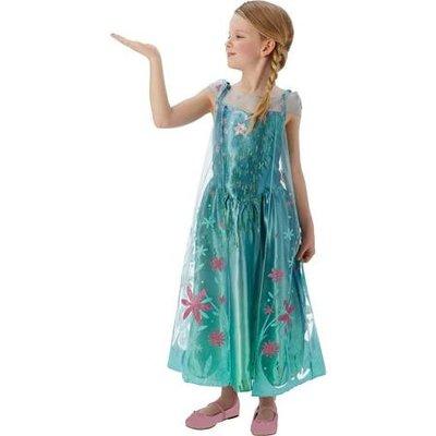 Frozen Fever Koningin Elsa Kostuum 5-6jaar