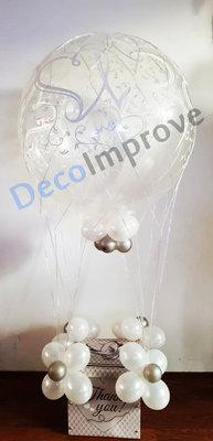 Wit met Zilver Luchtballon Ballondecoratie