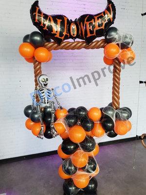 Halloween Vleermuis Foto Frame Ballondecoratie 100x100cm