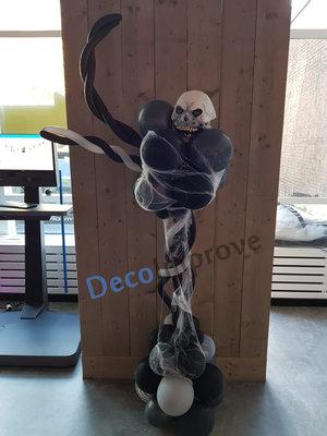 Spooky Skelet met Spinrag Ballonnenpilaar Ballondecoratie