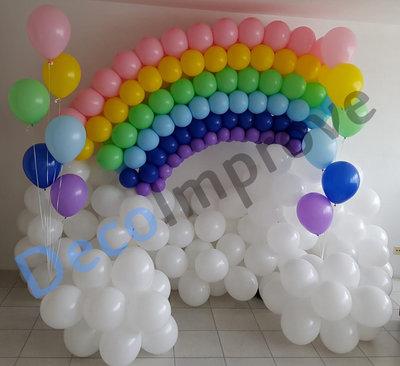 Regenboog op Wolken Ballondecoratie