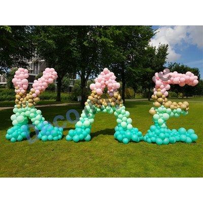 Letterpilaar Organic XXL Ballondecoratie