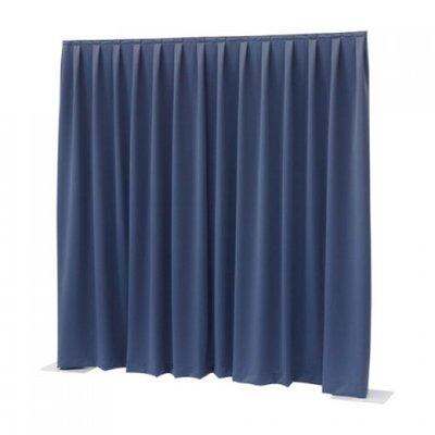 Blauw Doek Pipe & Drape Systeem 3m Hoog Verhuur