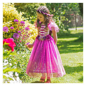 Paarse Prinses Deluxe Kostuum Kind 98-110