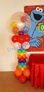 Regenboog Deluxe Ballonnenpilaar