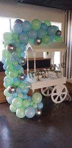 Organic Pastel Blauw en Groen Driekwart Ballonnenboog