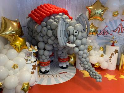 Olifant Circusthema Ballonsculptuur