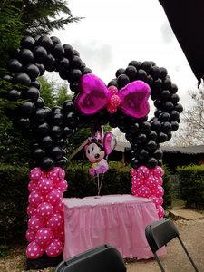 Ballonnenboog Minnie Mouse Polkadots Enkeldeurs