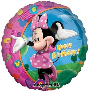 Minnie Mouse 'Happy Birthday Folie Ballon 45cm