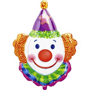 Clown SuperVorm Folie Ballon 83cm