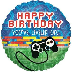 Level Up 'Happy Birthday' Folie Ballon 45cm