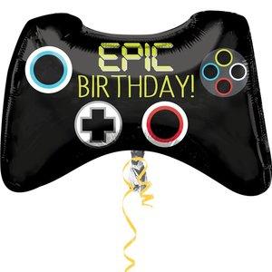 Epic Birthday Joystick Folie Ballon 71cm