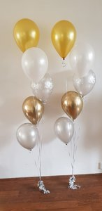 Parelmoer Jubileum Ballonnenboeket Helium Ballonnentros