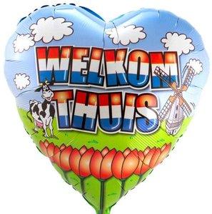 Hollands 'Welkom Thuis' Hart Folie Ballon 45cm