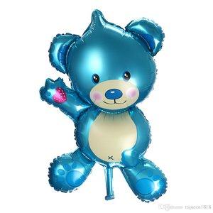 Blauw Teddybeer Folie Ballon 35cm