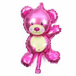 Roze Teddybeer Folie Ballon 35cm