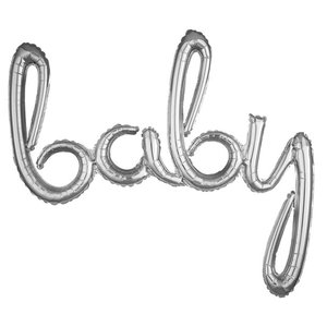 Zilver 'Baby' Letters Folie Ballon 99cm