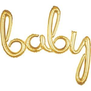 Goud 'Baby' Letters Folie Ballon 99cm