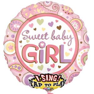 Baby Meisje Sing-A-Tune Folie Ballon 71cm