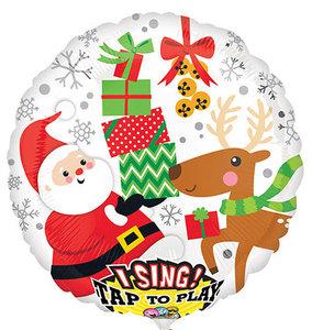 Jingle Bells Sing-A-Tune Folie Ballon 71cm