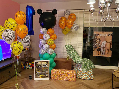 Mickey Mouse Safari Ballonnenpilaar