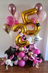 Gemengde Kleuren Ultra Deluxe Aging Love 25 Jaar Ballonnenpilaar