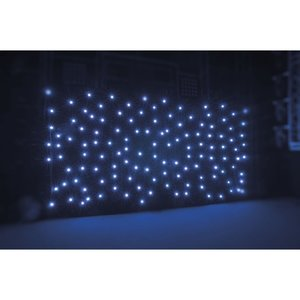 Sterrendoek 6x3m Zwarte stof 192 witte LEDs Verhuur