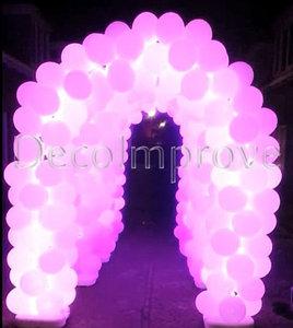 Ballonnenboog Tunnel met Programmeerbare LEDverlichting