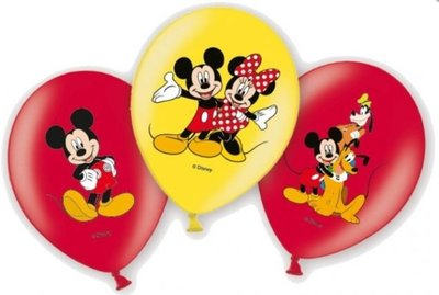 Mickey Mouse Klassiek Latex Ballonnen 6st