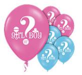 'Wat is het geslacht?' Latex Ballonnen 30cm 8st