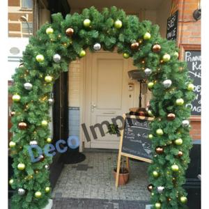 Kersttakken Boog met Kerstversiering en Verlichting - DecoImprove.nl