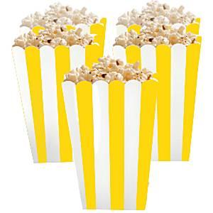 Geel Strepen Popcorn Bak 5st