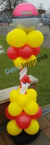 Pokemon Pokeball Luxe Ballonnenpilaar
