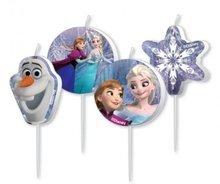 Frozen Verjaardagskaarsen 4st