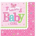 Welkom-Baby-Meisje-Tafel-Servetten-16st