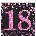 Sprankelende-Roze-18e-Verjaardag-Lunch-Servetten-16st