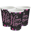 Sprankelende-Roze-Happy-Birthday-Papieren-Bekers-8st