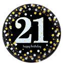 Sprankelende-21e-Verjaardag-Papieren-Borden-8st