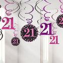 Sprankelende-Roze-21e-Verjaardag-Hangkrullen-12st